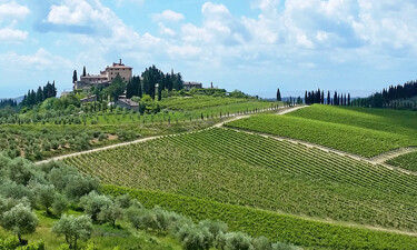 The scenery from my Tuscany wine tour from Loro Ciuffenna