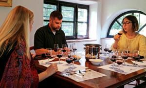 A Tuscany wine class being held at a famous winery in Chianti