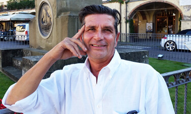 Tuscany driver guide Maurizio Bellini seen in Greve