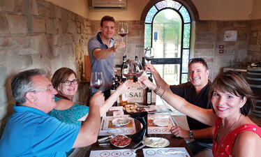 Tasting Chianti wines with Sergio of scenic wine tours in Tuscany