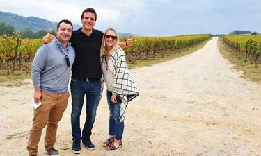 Wine tour in Tuscany at La Sala winery Chianti.