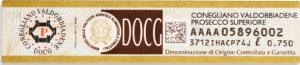 The Italian D.O.C.G. appellation label