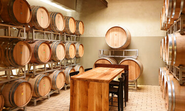 The tasting room of a Tuscan winery