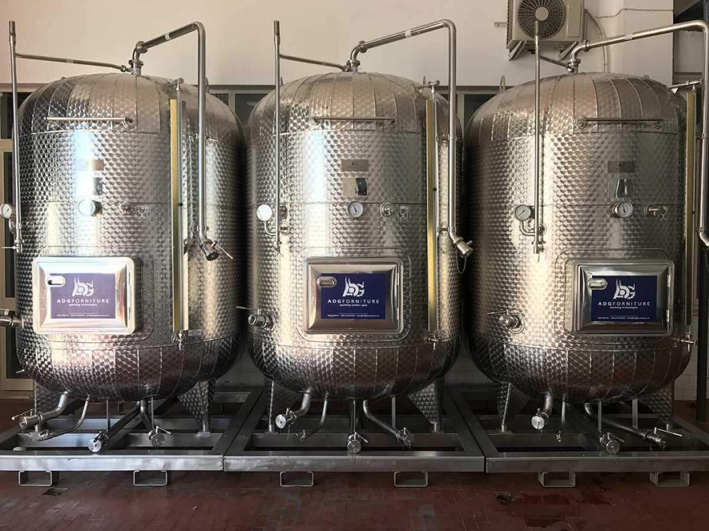 Vats used for making Prosecco