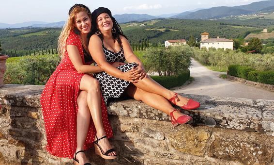 Holiday photos in Tuscany