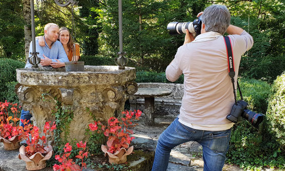Family Photographer in Tuscany at Work