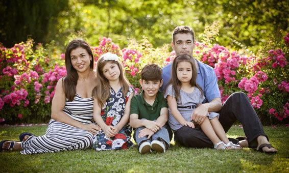 Family photo in the Chianti region of Tuscany