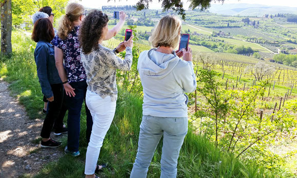Taking Photos of Chianti in Tuscany