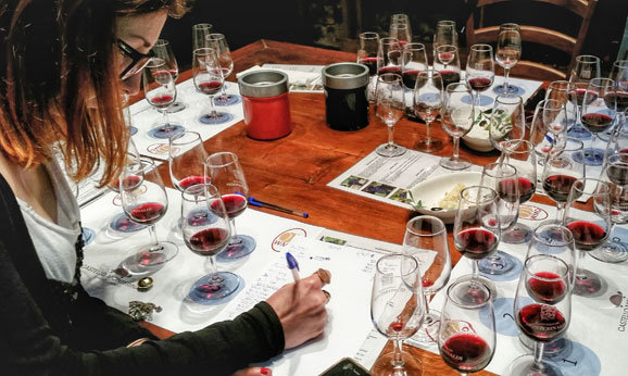 Wine making class on one of Sergio's guided Tuscany wine tours