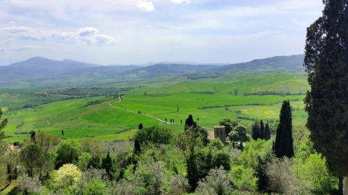 Tuscany the view from Pienza